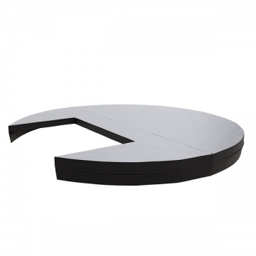 Термокрышка круглая с прямоугольным вырезом для печи или лесенки