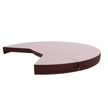 Термокрышка круглая с треугольным вырезом для печи или лесенки